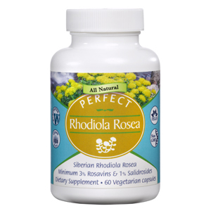 Perfect Rhodiola Rosea (60 caps) Bottle Image 300x300